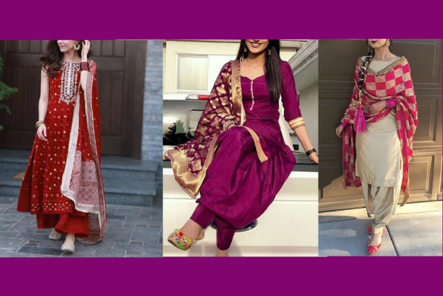 Punjabi weeding salwar suit