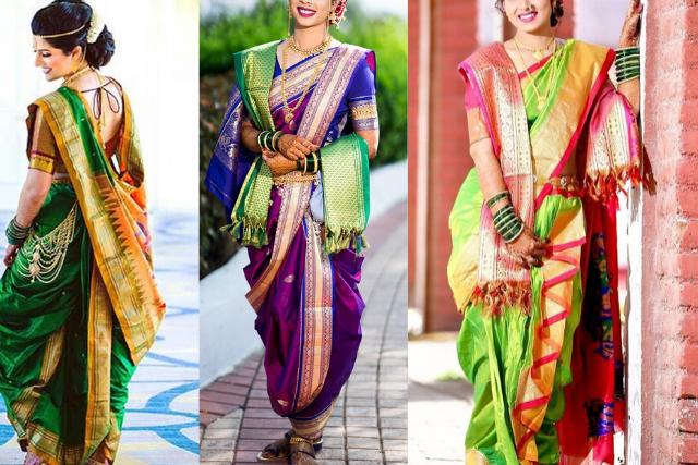 Maharashtrian Style Saree Drape