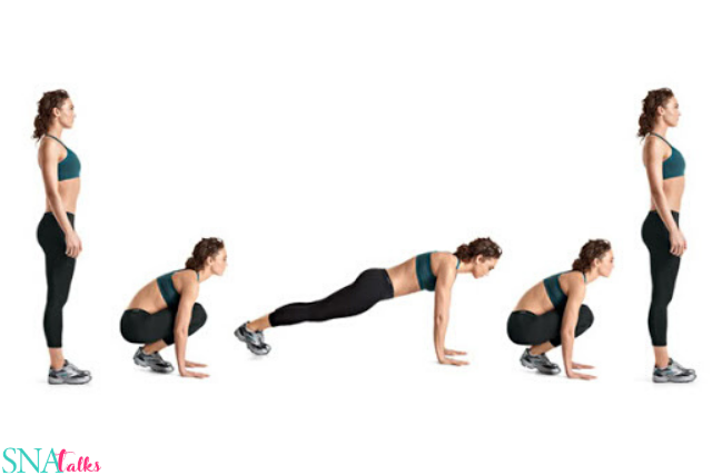 10 reps Burpees –